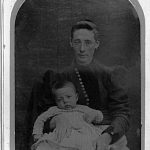 Thumbnail image for Parilee Head Darter holding son, Elbert Henderson Darter, Sr.