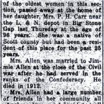 Thumbnail image for Obituary for Rebecca Jane Lane Allen