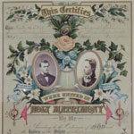 Thumbnail image for Patrick PIERSON & Martha J. JOHNSTON, 1883 – Marriage