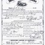 Thumbnail image for Marriage Certificate for James G. Ramey and Sarah Hammonds